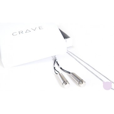 Silver Droplet Vibrator Necklace by Crave