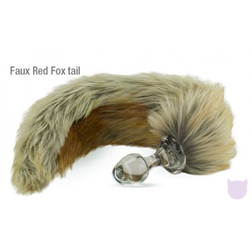 Crystal Minx Faux Fur Tails with a Crystal Delights Anal Plug