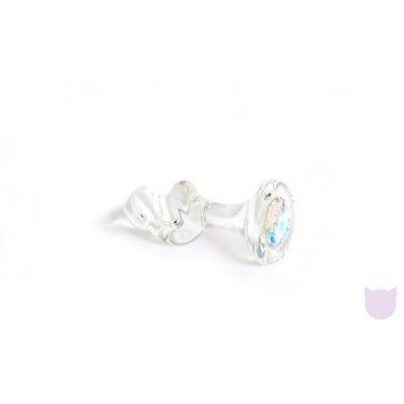 Crystal Mini-Twist Butt Plug with Swarovski