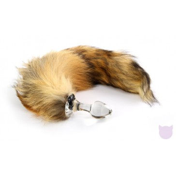 Crystal Minx Real Fur Tail Plug by Crystal Delights
