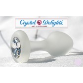 Crystal Delights frosted Anal Plug with Swarovski