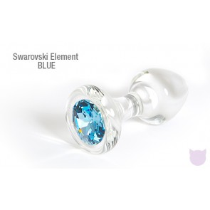 Crystal Delights Clear Anal Plug with Swarovski