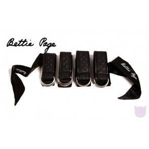 Bettie Page Sweet On Satin Restraints Set