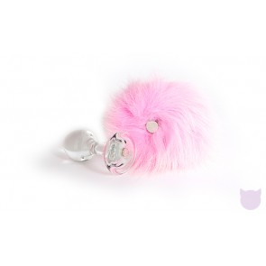 Magnetic Bunny Tail With Crystal Delights Butt Plug