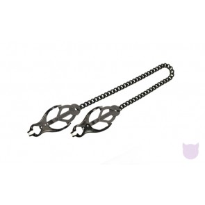 Japanese Clover Nipple Clamps - Black